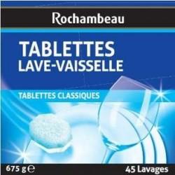 45 Pastilles Lave Vaisselle Classique Rochambeau