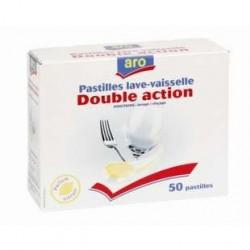 50 Pastilles Double Action Pour Lave Vaisselle Aro
