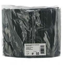 500 Pailles Flexibles Noirs