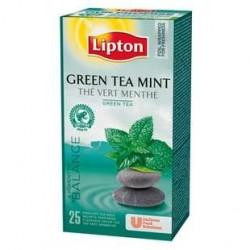 25 Sachets de Thé Vert Menthe Lipton