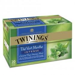 20 Sachets de Thé Vert Menthe Intense Twinings