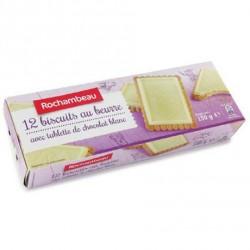 4 Paquets de Biscuits avec Tablette au Chocolat au Blanc Rochambeau 4 x 150 G