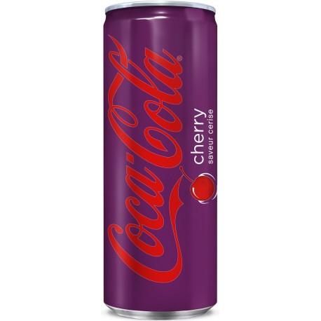24 Canettes de Coca Cola Cherry 24 x 33 CL