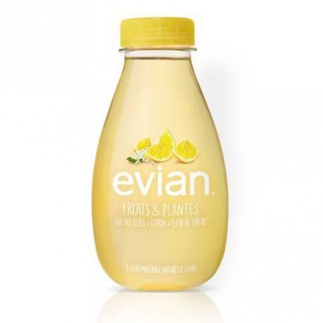 12 Bouteilles d'Eau Evian Fruits & Plantes Citron et Fleur de Sureau 12 x 37 CL