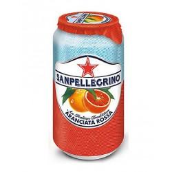 24 Canettes de San Pellegrino Aranciata Rossa 24 x 33 CL
