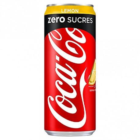 24 Canettes de Coca-Cola Zero Lemon 24 x 33 CL