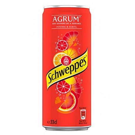 24 Canettes de Schweppes Agrumes 24 x 33 CL