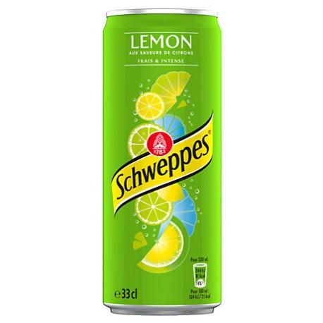 24 Canettes de Schweppes Lemon 24 x 33 CL