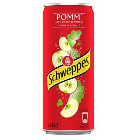 24 Canettes de Schweppes Pomm' 24 x 33 CL