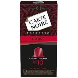 10 Capsules (Compatibles machines Nespresso) Carte Noire Espresso Corsé Intensité 10