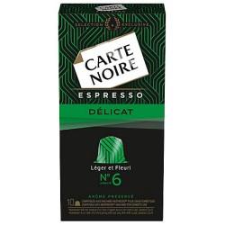 10 Capsules (Compatibles machines Nespresso) Carte Noire Espresso Délicat Intensité 6