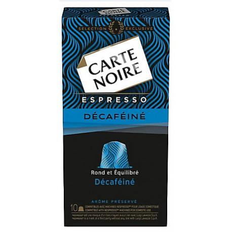 10 Capsules (Compatibles machines Nespresso) Carte Noire Décaféiné