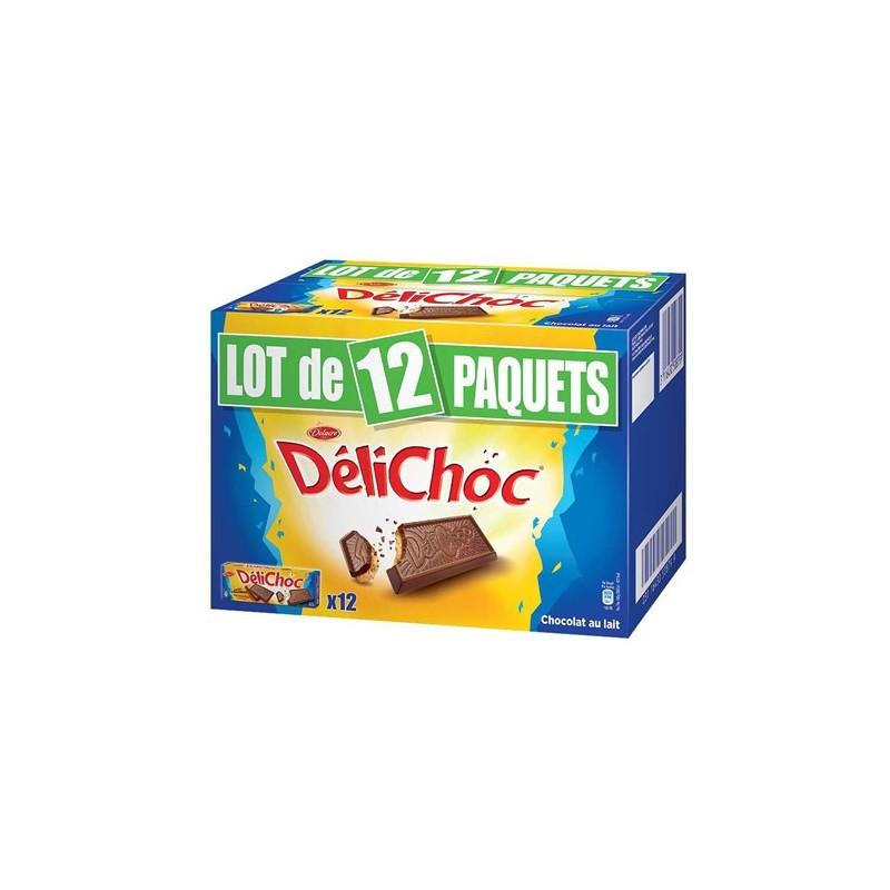 12 Paquets de Délichoc de Delacre Biscuits Chocolat au Lait 12 x 150 G.  Loading zoom