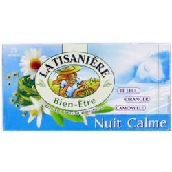 25 Sachets d'Infusion Nuit Calme 25 La Tisanière