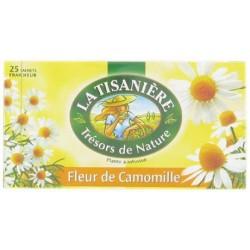25 Sachets d'Infusion Fleur de Camomille La Tisanière