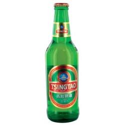 24 Bouteilles de Bière Blanche 4.7° Tsing Tao 24 x 33 CL