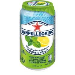 24 Canettes de San Pellegrino Citron et Menthe 24 x 33 CL