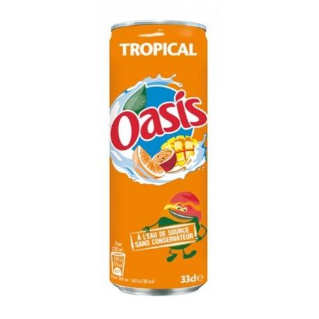 24 Canettes d'Oasis Tropical 24 x 33 CL
