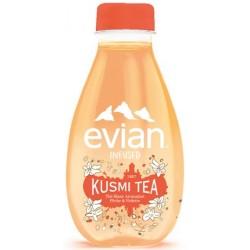 12 Bouteilles d'Evian Kusmi Tea Thé à La Pêche et Violette Bio 12 x 37 CL