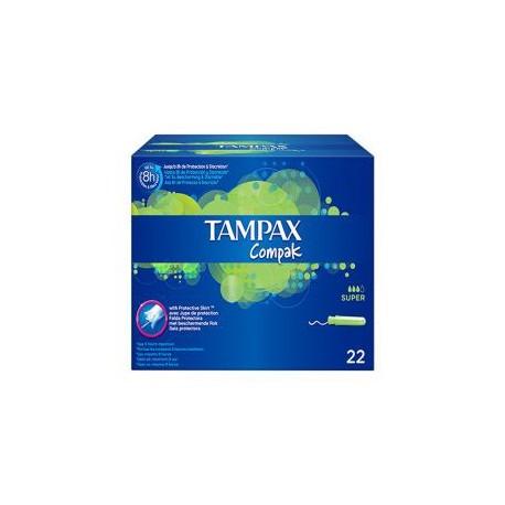 22 Tampons Tampax Compak