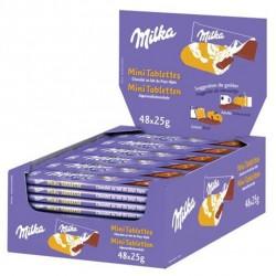 48 Mini Tablettes Chocolat au Lait Milka 48 x 25 G