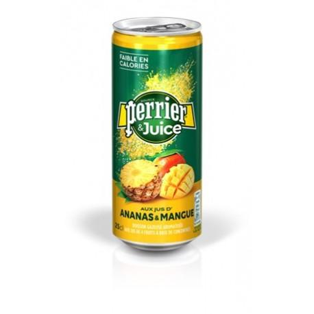 24 Canettes de Perrier Juice Ananas Mangue 24 x 25 CL