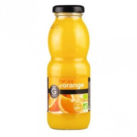 12 Bouteilles en Verre de Jus d'Orange Bio Gilbert 12 x 25 CL