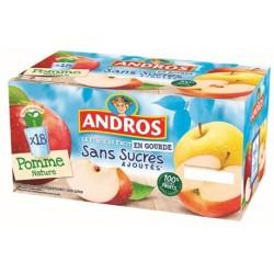 18 Compotes en gourde Pomme Sans Sucres Ajoutés Andros 18 x 90 G