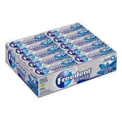 30 Paquets de Chewing-Gum Freedent White Menthe Forte 30 x 10 Dragées