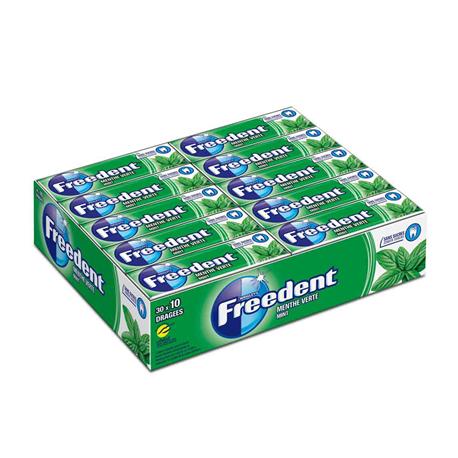 30 Paquets de Chewing-Gum Freedent Menthe Verte