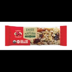 16 Barres de Céréales Noix et Cranberry Bio Taste of Nature 16 x 40 G