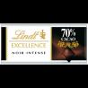 24 Tablettes de Chocolat Noir Excellence 70% Lindt 24 x 35 G