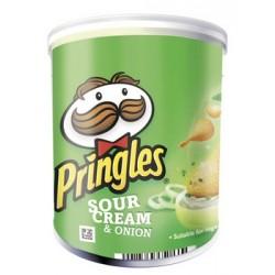 12 Paquets de Mini Pringles Goût Crème et Oignons 12 x 70 G