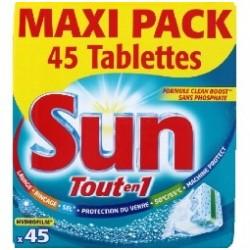 Sun Tout en 1 Maxi Pack 45 Pastilles